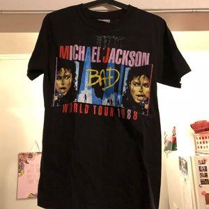 Rare Michael Jackson Vintage T-Shirt Bad Tour